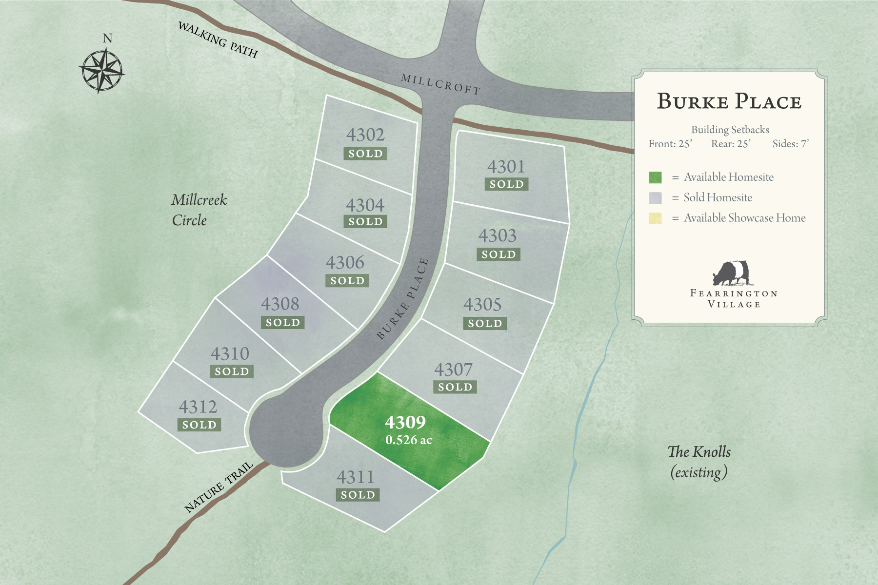 Map of Burke Place