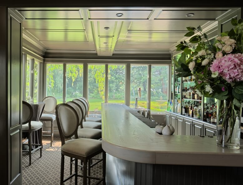 The bar at Fearrington House