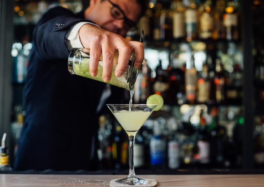 Bartender making a cocktail