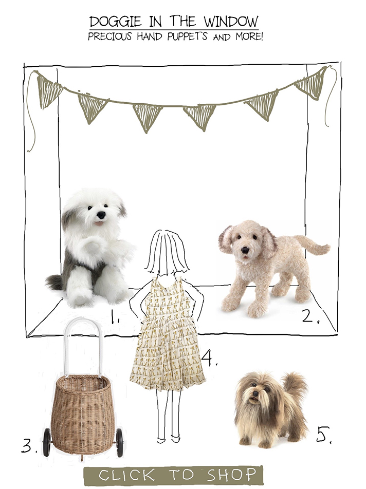 dog-themed gifts at Sprout in Fearrington Village
