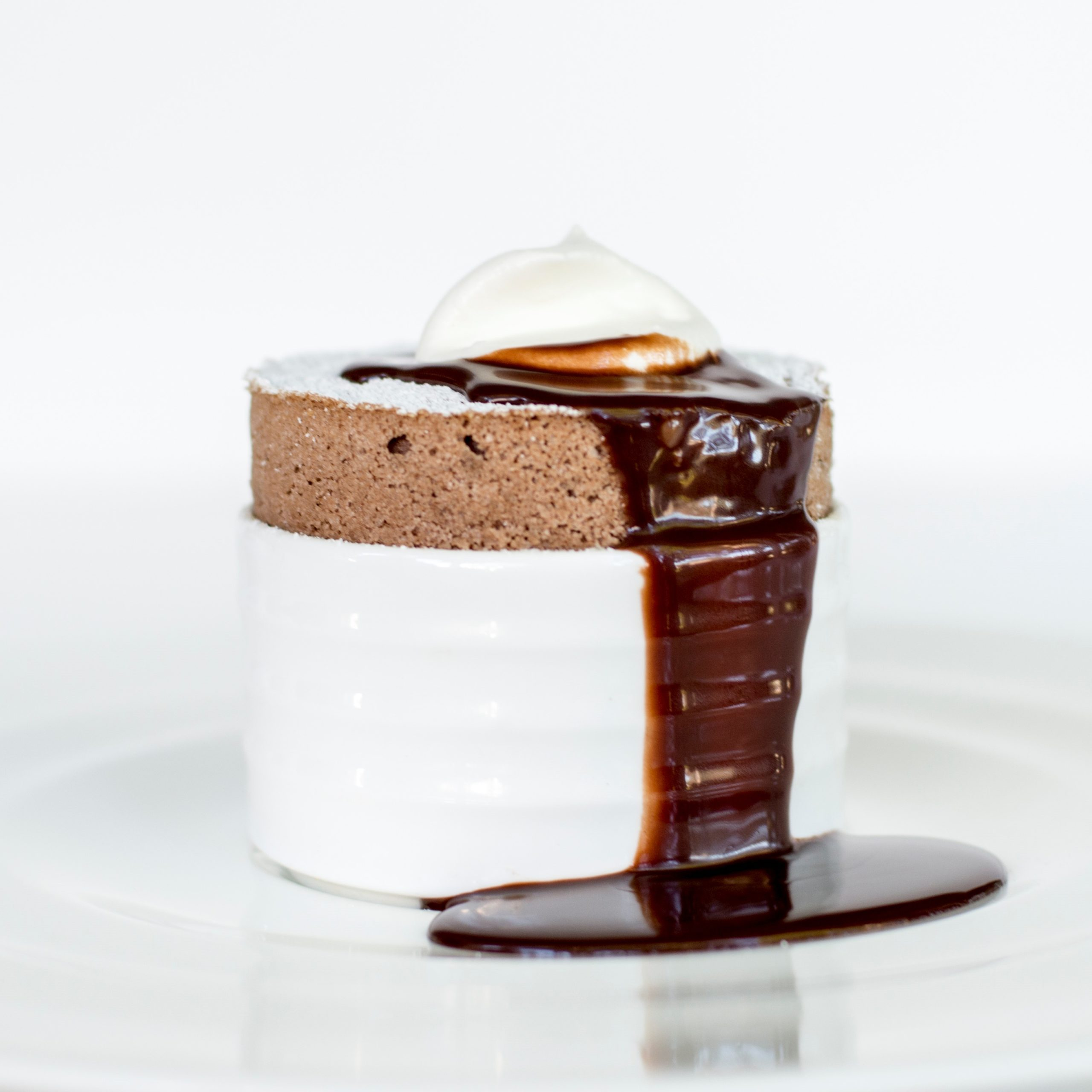 chocolate souffle at fearrington house
