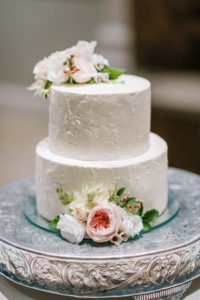 allie and michael's fearrington wedding cake