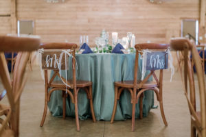 a table in the barn wedding