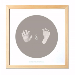 FRAMED FIRST HAND AND FOOT PRINTS