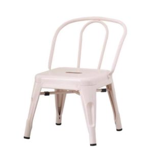 CHILD'S METAL CHAIR IN BLUSH