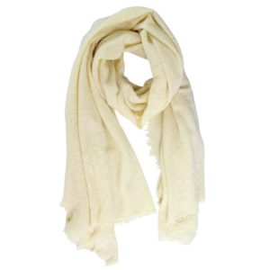 KAS CASHMERE – HAND-LOOMED WRAP IN PALE YELLOW