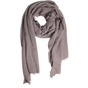 KAS CASHMERE – HAND-LOOMED WRAP IN LATTE