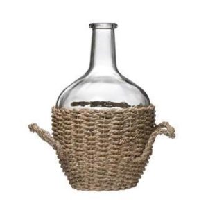 GLASS BOTTLE WITH WOVEN COVER