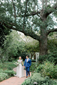 molly and robert under a tree at fearrington