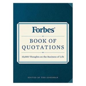 FORBES BOOK OF QUOTATIONS