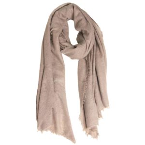 KAS CASHMERE – HAND-LOOMED WRAP IN ROSE ASH