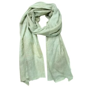 KAS CASHMERE – HAND-LOOMED WRAP IN PASTEL GREEN