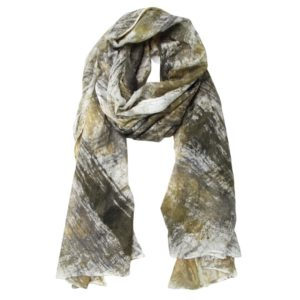 KAS CASHMERE – HAND-LOOMED WRAP IN AMBER ACORN