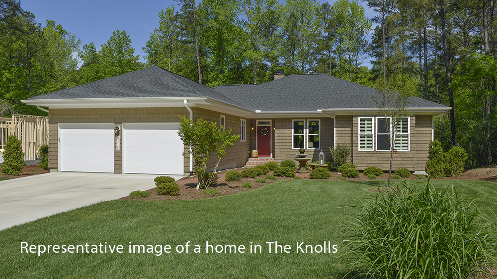 representative image of a house in the knolls