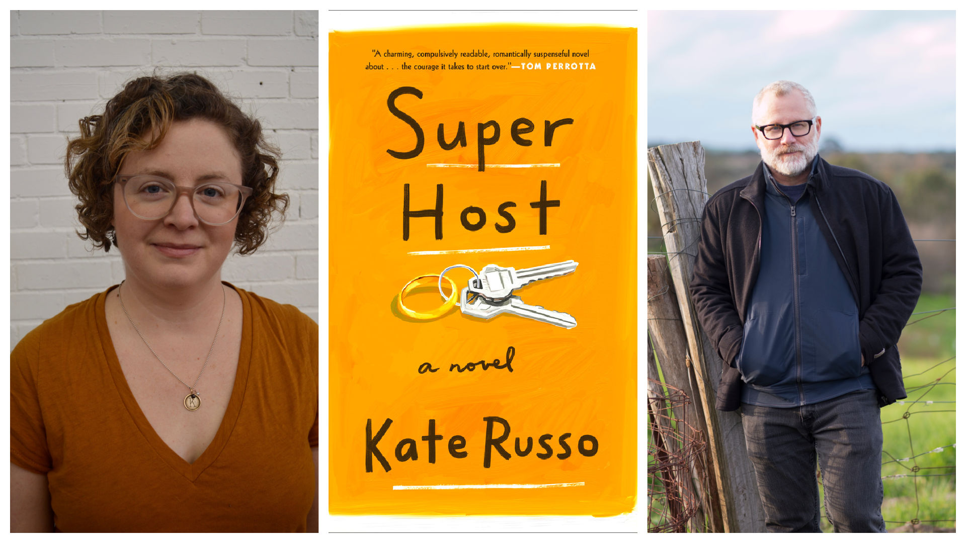 Kate Russo, author of Super Host, in discussion with Tom Perrotta