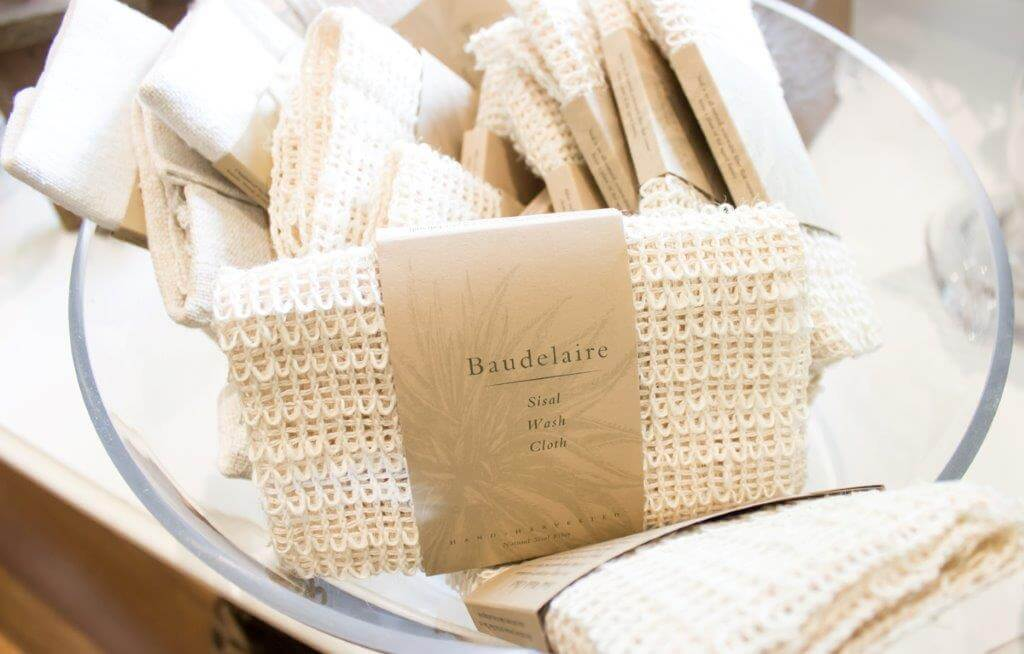 sisal washclothes at the spa