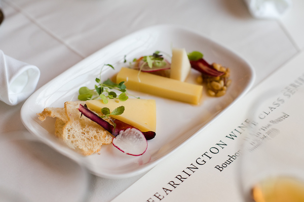 cheese plate with Fearrington wine class