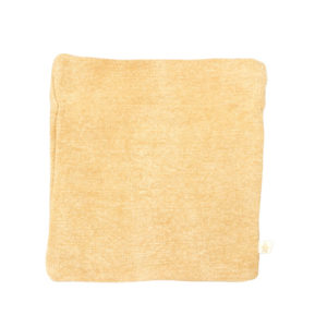 COTTON AND JUTE ZIP POUCH IN GOLD