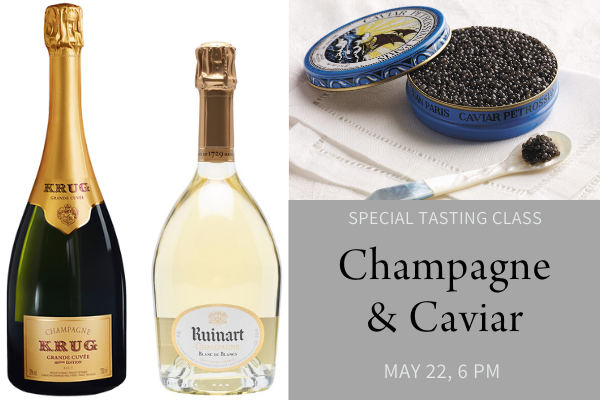 champagne and caviar special tasting