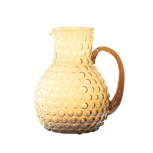 HOBNAIL PITCHER IN AMBER