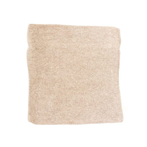COTTON & JUTE POUCH IN LIGHT BROWN
