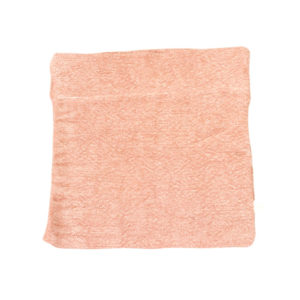 COTTON & JUTE POUCH IN ROSE