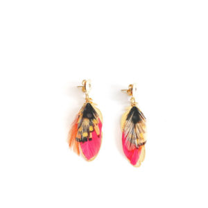 GAS BIJOUX – SAO PLUMES FEATHER EARRINGS