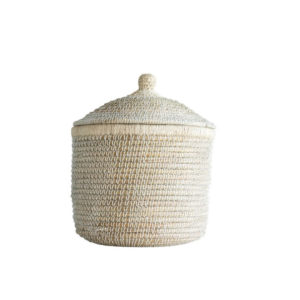 LARGE SEAGRASS BASKET WITH LID