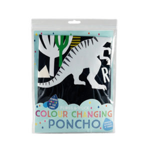 COLOR CHANGING PONCHO – DINOSAUR