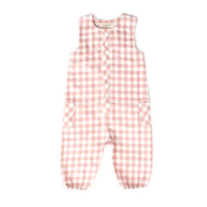 PEHR DESIGNS – CHECKMATE ROMPER IN PEONY