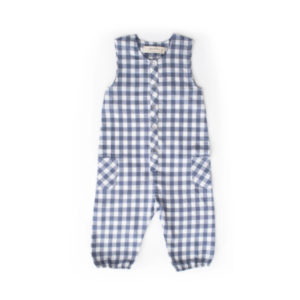 PEHR DESIGNS – CHECKMATE ROMPER IN FRENCH BLUE