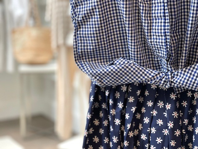 checks and flower prints at dovecote