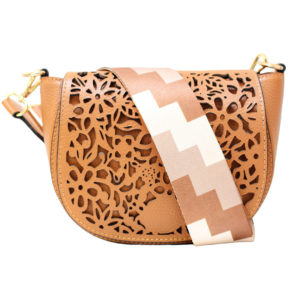 LEATHER CROSSBODY BAG IN CAMEL