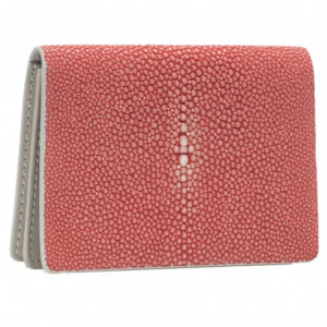 TAYLOR SHAGREEN CARD CASE IN HIBISCUS