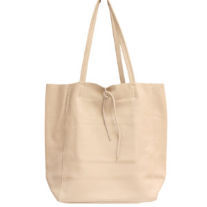 LEATHER TOTE – CHAMPAGNE