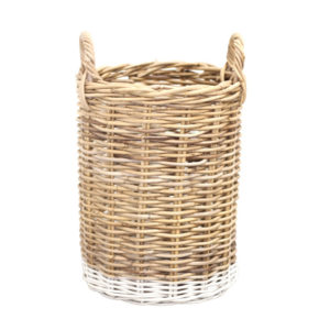 WHITE DIPPED BASKET – SMALL