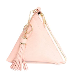 VEGAN LEATHER TRIANGLE WRISTLET – BABY PINK