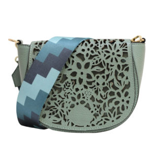 LEATHER CROSSBODY BAG IN SAGE