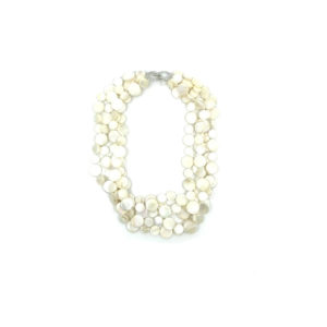 5 STAND MOTHER OF PEARL NECKLACE – WHITE