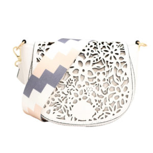 LEATHER CROSSBODY BAG IN WHITE