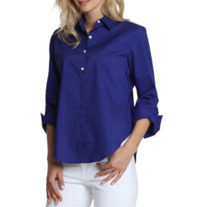 HINSON WU – ZOEY RUSCHED SLEEVE SHIRT