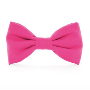 HOT PINK DOW BOW TIE