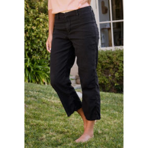 FRANK AND EILEEN – KINSALE LINEN PANT IN BLACK