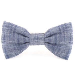 LARGE CHAMBRAY DOG BOW TIE