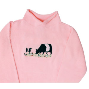 BELTED BARNYARD ROLLNECK SWEATER IN PINK (12 MONTH)